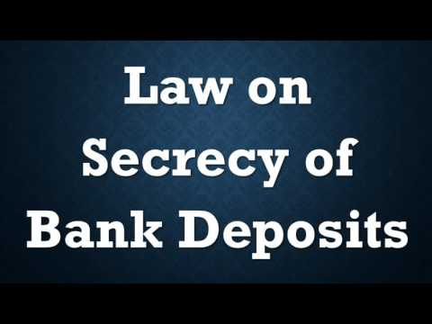 Law on Secrecy of Bank Deposits