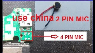 all andriod smart phone/4 pin digital mic  how to use 2 pin china mic