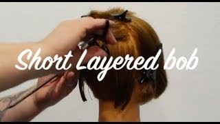 Hair Tutorial, Short Layered bob hairstyle with clippers.