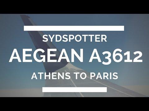 AEGEAN AIRLINES TRIP REPORT ATHENS-PARIS