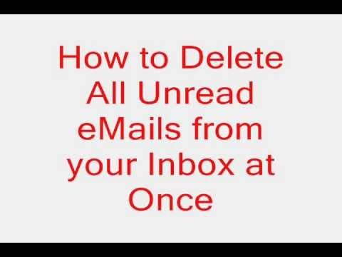 How to Delete All Unread emails in Gmail at Once in just 10 seconds?