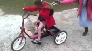 Abigail's new Rifton adaptive bike Thumbnail