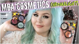 MBA Cosmetics Chromalights Foil FX Glitters | Swatches + Review