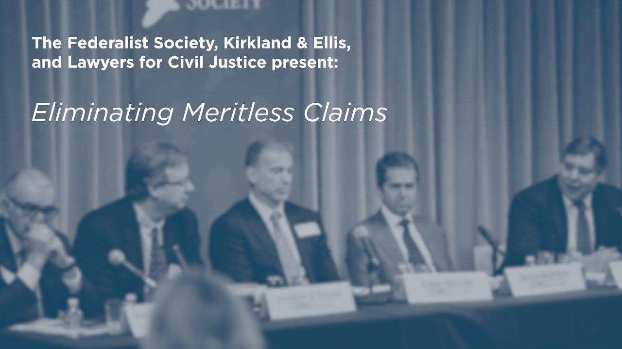 Eliminating Meritless Claims [Multidistrict Litigation (MDL) Conference]