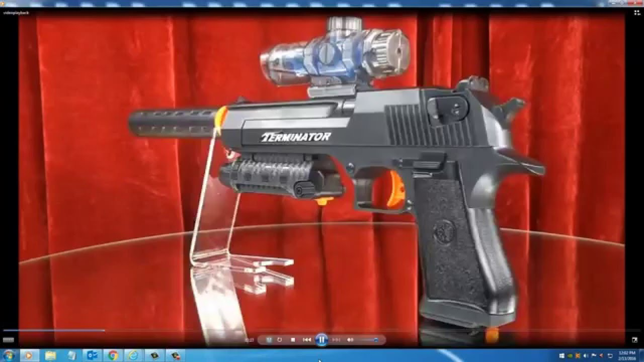 Unboxing Toy Gun Paintball Electronic desert eagle - YouTube