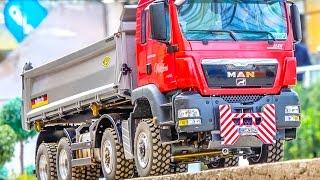 RC truck stuck, trucks & construction machines! M.A.N & Scania POWER!