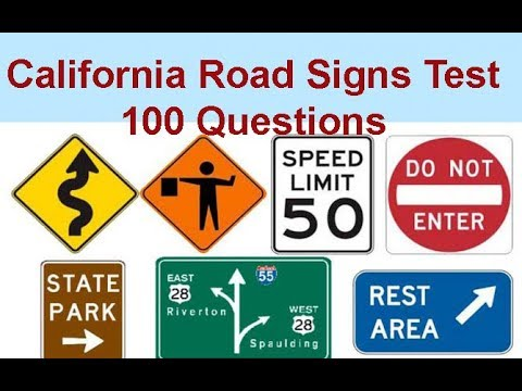 California Traffic Road Signs Practice Test 100 Questions With Right Answers US Road Signs Test