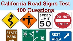 California traffic road signs practice test - 100 questions with right answers - US road signs test