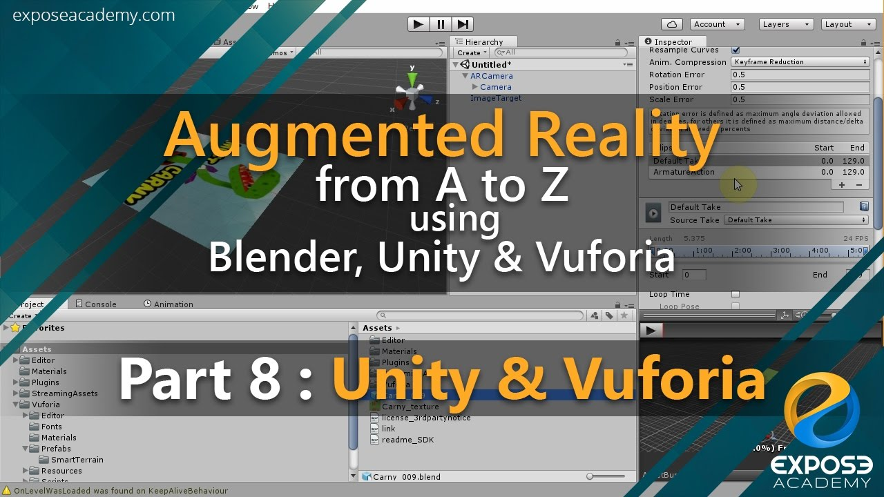 Augmented Reality from A to Z using Blender, Unity and