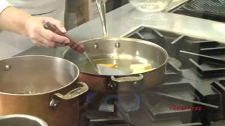 Honeyed Polenta Cakes With Tomato Relish