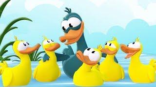 5 KÜÇÜK ÖRDEK Hayvanlı Şarkılar  Mini Anima Çocuk Şarkısı