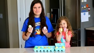COLORING EASTER EGGS - WHAT'S INSIDE AN EGG?