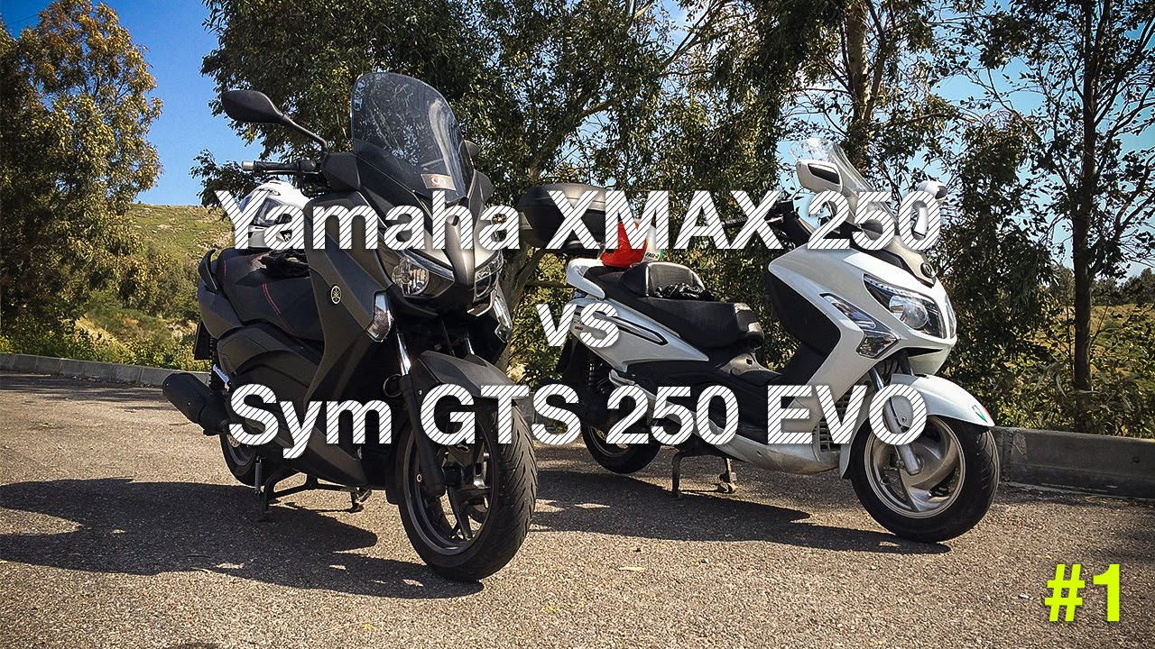 yamaha xmax 250 vs sym gts 250i evo kalk yar 1 youtube. Black Bedroom Furniture Sets. Home Design Ideas