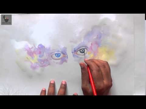 "Watercolor Painting In 20 Minutues ""Beautiful Eyes"""