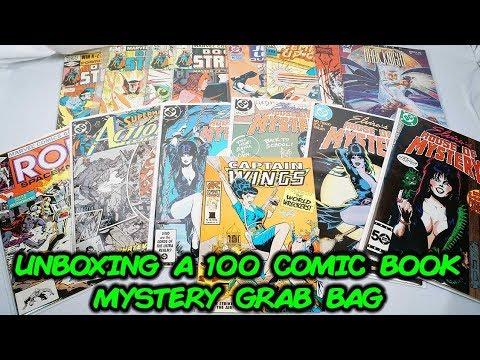 "Unboxing a 100 Random Comic Book ""Grab Bag"" Mystery Box"