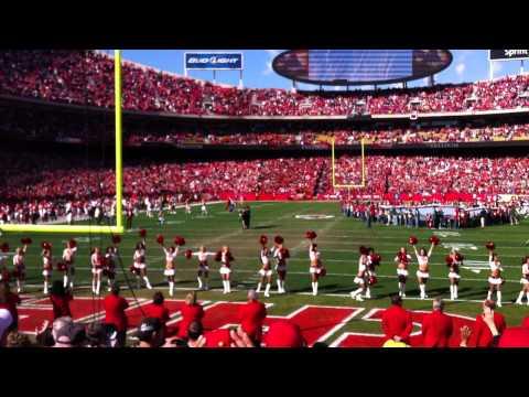Chiefs Broncos Stealth Bomber Flyover 11.13.2011 Arrowhead