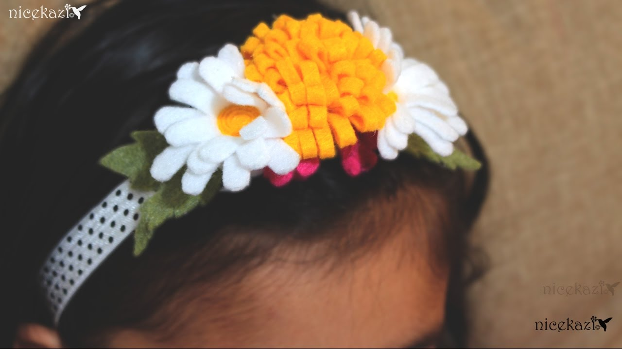 Daisy Flower Headband Youtube