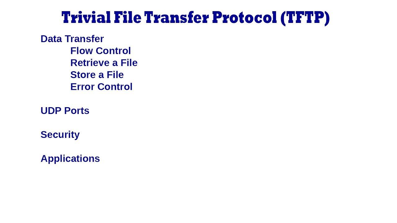 trivial file transfer protocol Trivial File Transfer Protocol TFTP - YouTube