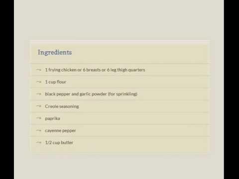Oven Fried Cajun Chicken Recipe