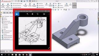 SolidWorks Örnek Çizim - ORTA SEVİYE #3 (SINAVA YARDIMCI)