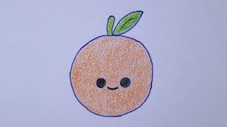 Como desenhar uma laranja muito fofa