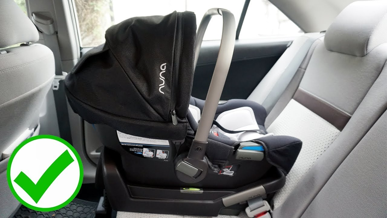 how to correctly install a nuna pipa car seat youtube. Black Bedroom Furniture Sets. Home Design Ideas