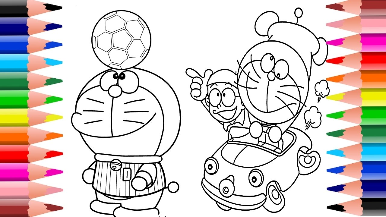 doraemon coloring book doraemon coloring pages for children coloring doraemon - Doraemon Colouring Book