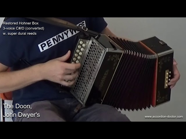 Reels: The Doon/John Dwyer's on 3-voice vintage Hohner in C#/D