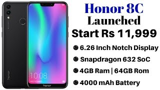 Honor 8C Launched in India With Snapdragon 632 SoC, AI Camera | Price, Specifications and Details