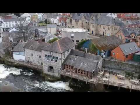 Llangollen by Drone, with Abbey Ruins & Quarry