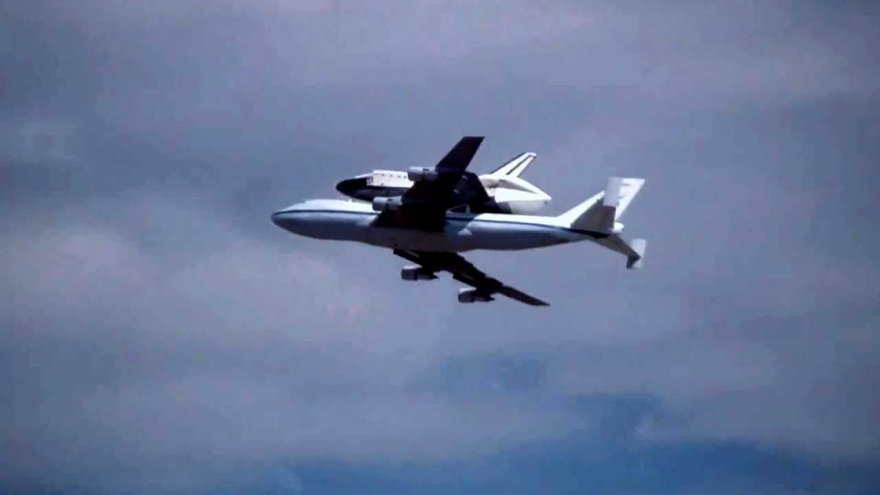 F/A-18 extended view of Space Shuttle Endeavour's flyover ... |Space Shuttle Flyover