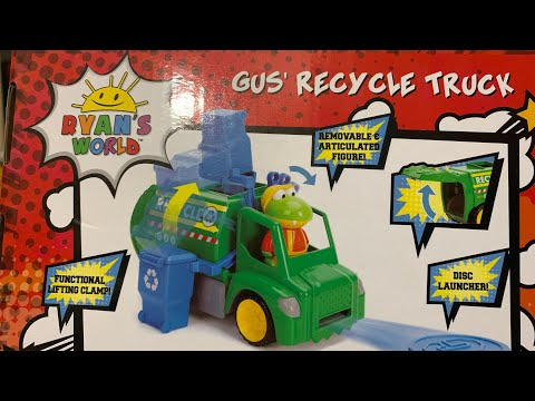 Episode 199: Ryan's World Toy Review- Gus The Gator Recycling Truck