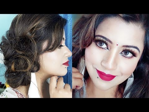 red-eyeshadow-||-pohela-boishak-makeup-||-hairstyle-tutorial-||-2018||-bengali-new-year