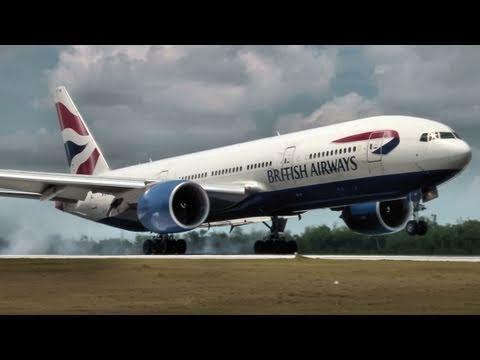 Boeing 777-200ER - British Airways - Landing In Cancun Mexico CUN/MMUN