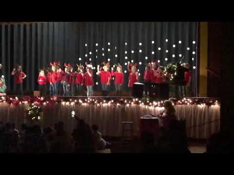 Plaucheville Elementary School in Plaucheville 2018-2019 Christmas play. First Grade Class