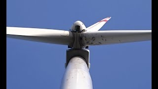 General Electric GE 2.5 MW wind turbines in the forest