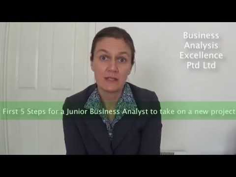 First 5 Steps a Junior Business Analyst should take on a new project