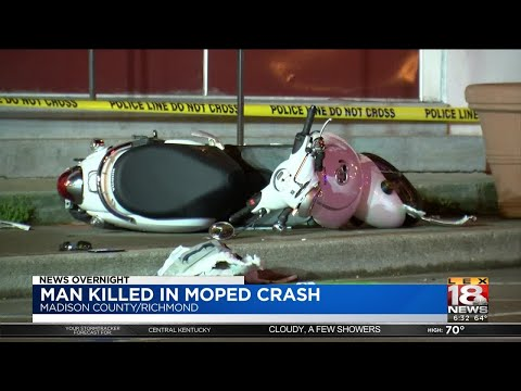 Man Killed In Moped Crash - YouTube
