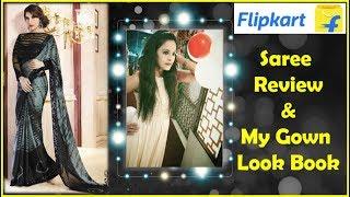 Flipkart Saree Review &Try On,Unboxing Flipkart Saree& Gown,Flipkart Shopping Review, ideas with aru