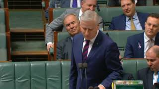 House Question Time 15 October 2018