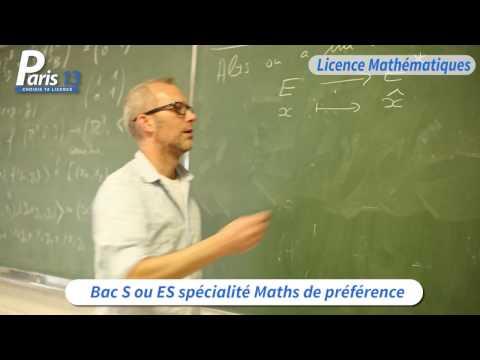 Licence de Mathématiques - Université Sorbonne Paris Nord (USPN)
