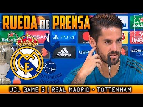Real Madrid - Tottenham Rueda de prensa de ISCO Champions (16/10/2017)