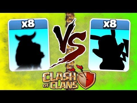 Clash Of Clans - MAX TROOP vs TROOP! - BEST TROOP IN CoC 2016!