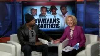 Shawn Wayans with Linda Cavanaugh on KFOR-TV