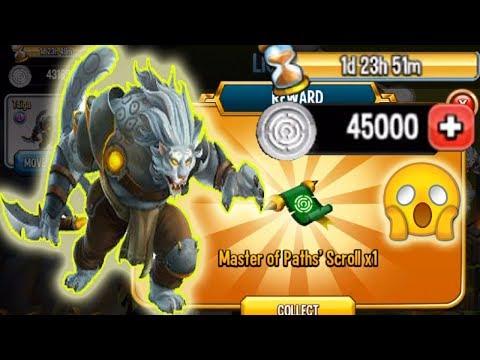 Monster Legends Taiga Light Path cost 23876 get cell reward token scroll