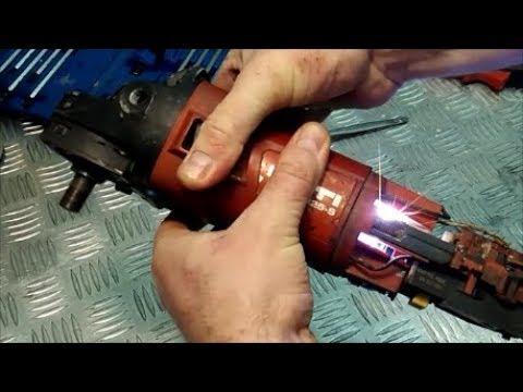 Как определить поломку якоря HILTI DCG 125S ИСКРИТ НА ЩЕТКАХ, /HILTI DCG 125C Sparks On Brushes
