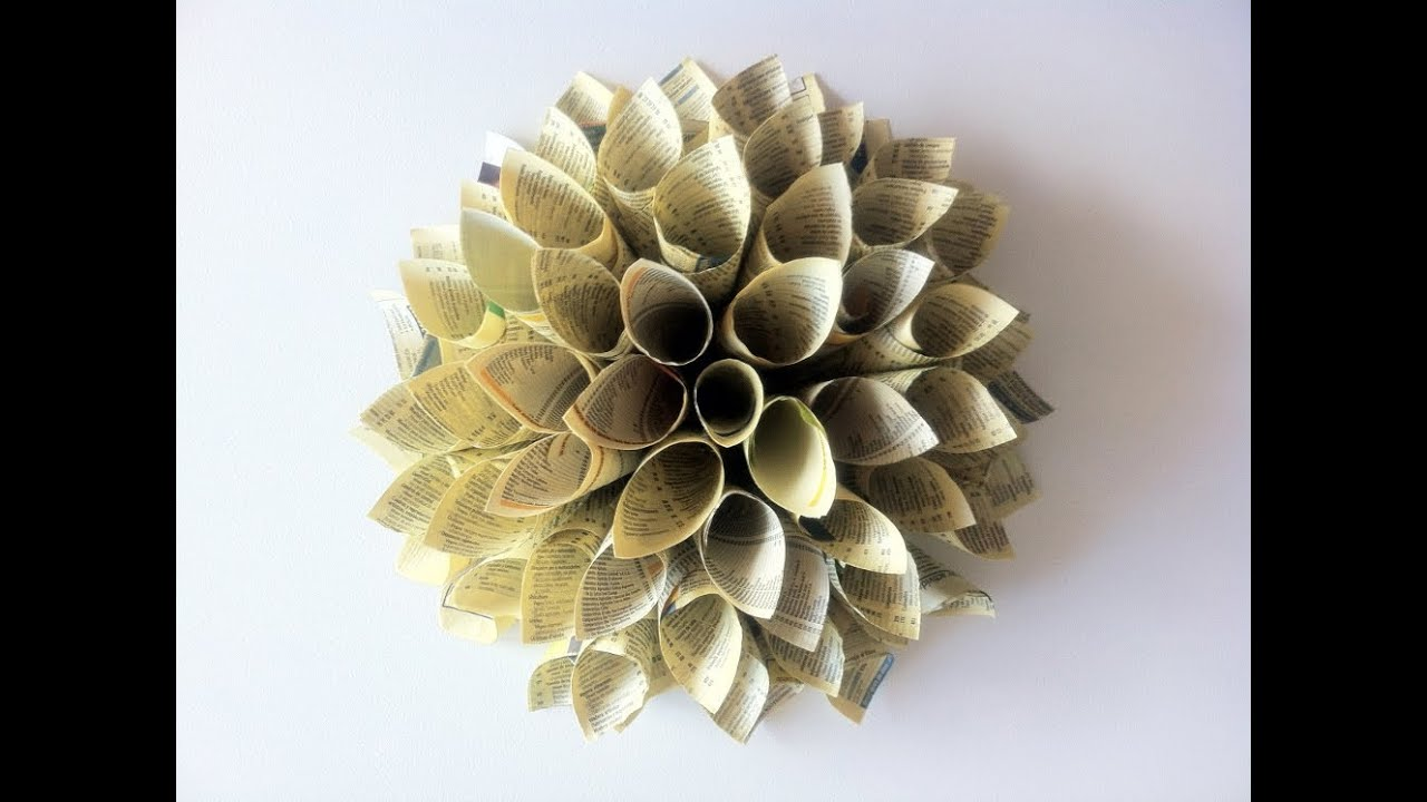tutorial diy quotc243mo hacer una flor dalia de papelquot youtube