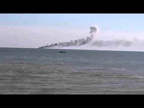 2 Ukrainian border guard boats were hit near Mariupol on August 31