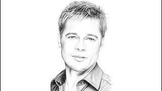 How to draw Brad Pitt