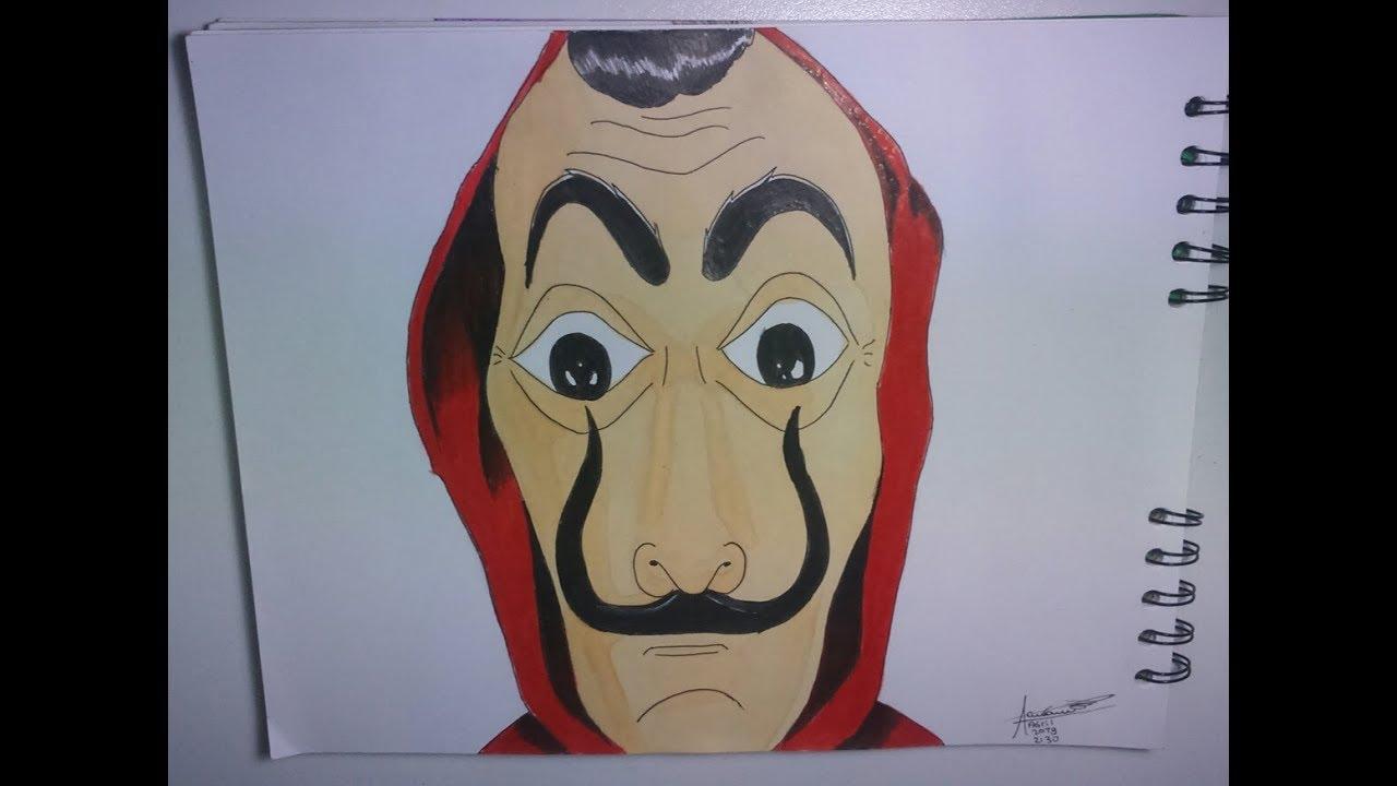 Dibujando La Mascara Dali De La Casa De Papel